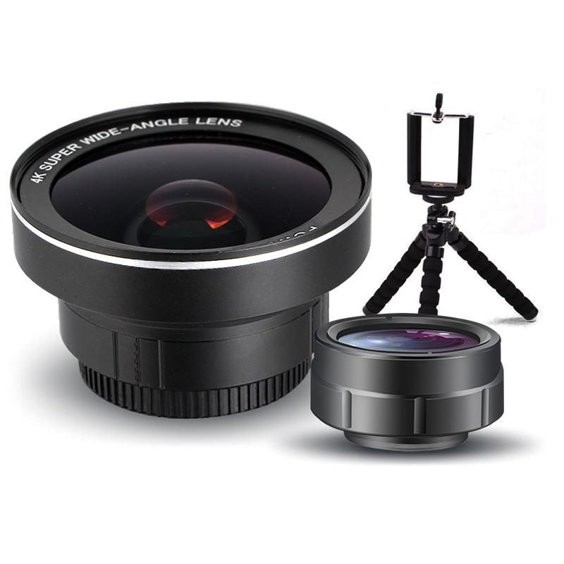 手機鏡頭超廣角微距魚眼三合一套裝通用外置攝像頭