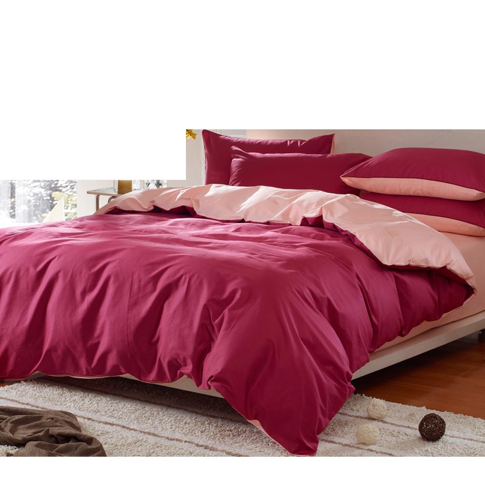 歐式床包四件套 全純棉雙拼接床單 素色床單式