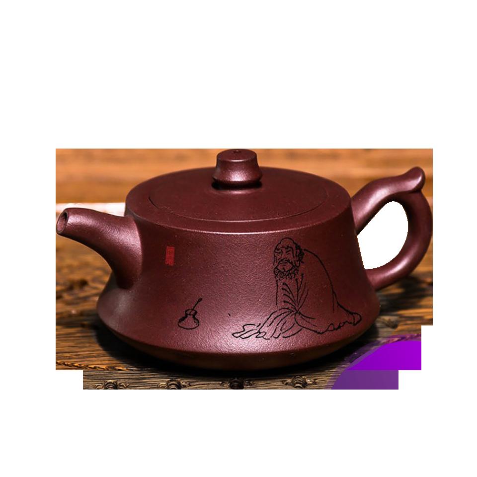 紫砂壺 純手工套裝 球孔泡茶壺茶具 老紫泥柱礎壺