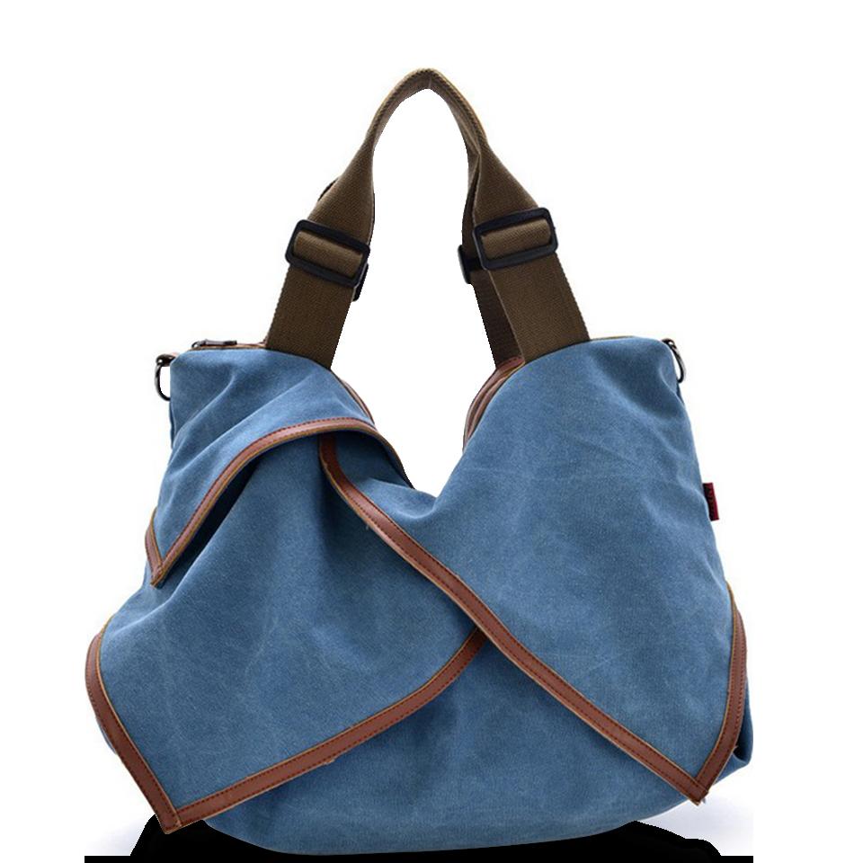 帆布包 手提包 大容量休閒手提包 簡約單肩斜挎帆布包