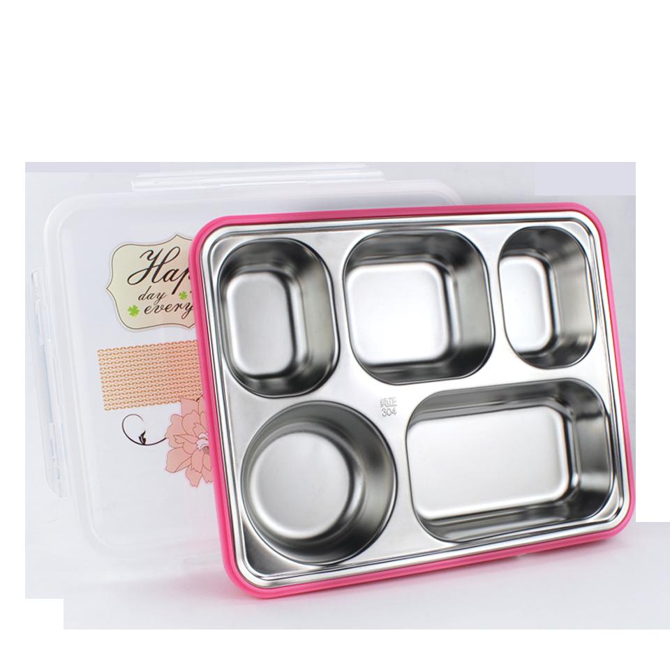 加大便當盒 304不鏽鋼 學生保溫飯盒 上班族便攜分格餐盤