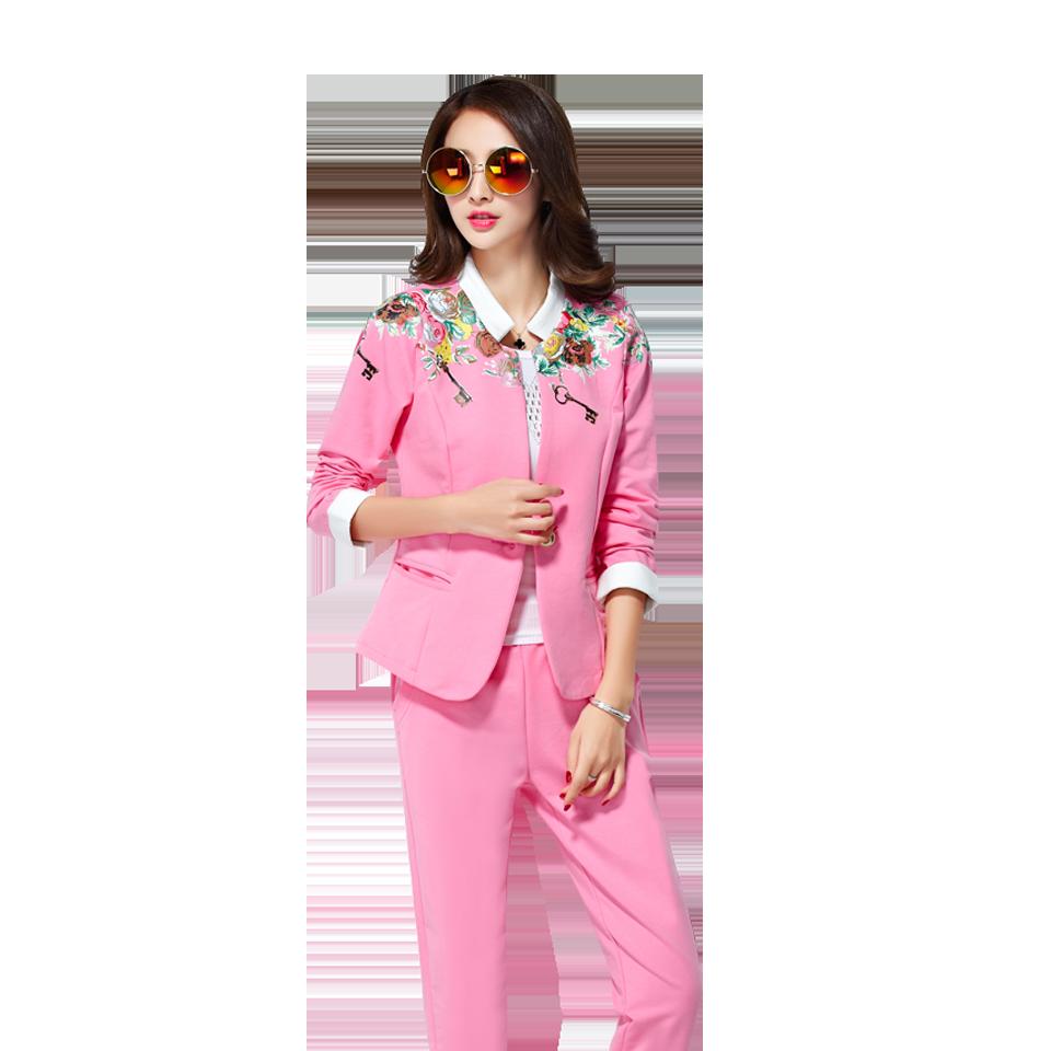 秋裝新款韓版 衛衣三件套 運動服女 休閑西裝 運動套裝