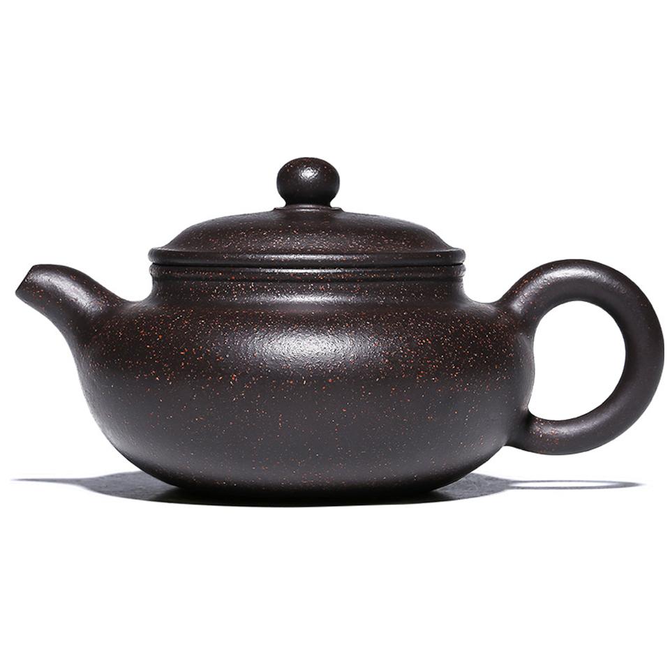 紫砂茶壺名家 純手工原礦黑金砂 家用功夫泡茶壺茶具